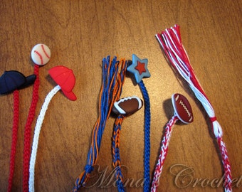 Hand Crocheted Bookmarks For Boys and Girls With Buttons and Tassels | Bookmarks For Kids | Stocking Stuffers