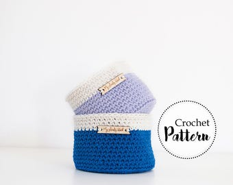 Small basket crochet pattern || storage basket || crochet home decor || easy crochet pattern || instant download