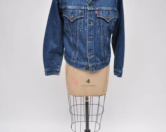 vintage levis jacket denim levi's jacket  boyfriend 1980s womens 80s small