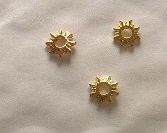 Gold Sun frames- 3D japanese nail art charms 3 pcs