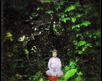 Green Buddha, Fine art photography