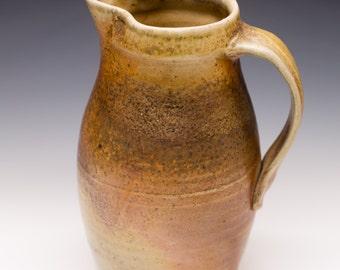 Wood Fired Porcelain Blend Pitcher - Shino Liner Glaze, 0514003