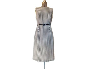 Vintage 1980s Liz Claiborne Houndstooth Sheath Dress (8)