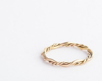 Vine Ring, Skinny Twisted Ring, 14k Gold Filled or Sterling Silver