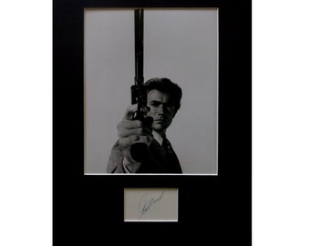CLINT EASTWOOD AUTOGRAPH photo display Dirty Harry