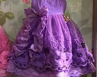 Beaded lace dress for Blythe also fit pure neemo small