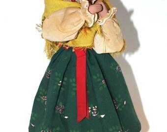 Big Polish Folk Costume Doll Polish highlander Poland figure in traditional handmade costume regional ethnic dress Cultural Doll on stand