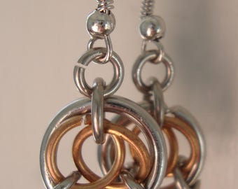 Chainmaille, celtic circle earrings