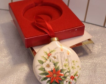 Vintage Lenox Footprints Christmas Ornament