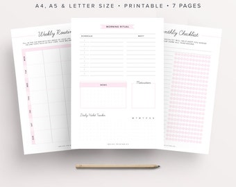 Daily Routine Planner, Routine Chart, Morning Routine Checklist, Daily Rituals, Night Time Routine, Habit Chart, Weekly Chart, Habit Tracker