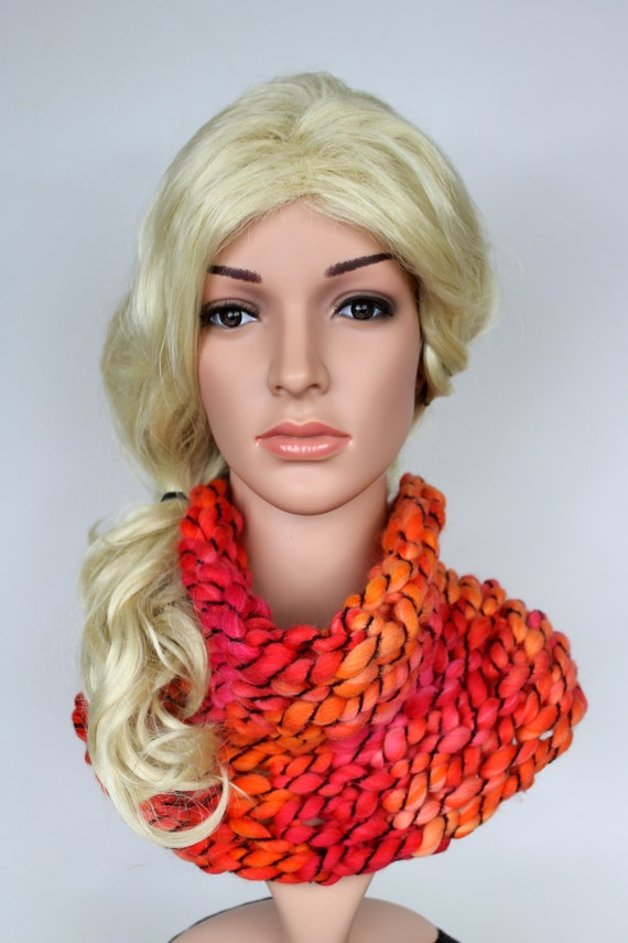 Knit Cowl Snood Womens Winter Scarves Knit Infinity Scarf Cowl Snood Scarf Bulky Chunky Scarf Knit Cowl for Her Chunky Knit Loop Gift Idea