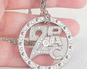 Vintage 2PAC Shakur Big Necklace Hall of Famer 2PAC Shakur Necklace 90's Tupak Necklace Rapper Jewelry