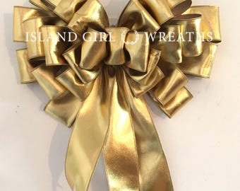 Graduation Gift Bow, Gold Ribbon, Large Gift Bow, Gold Christmas Bow, Christmas Gift Bow, Large Christmas Bow, Gift Bows, Car Bows, Gift Bow