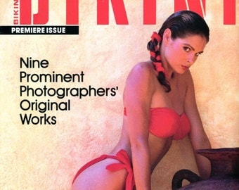 Bikini Magazine  Issue # 1  1987    Very Hard to find in great condition  9 Photographers' photograph many beautiful women
