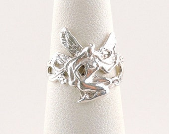 Size 5 Sterling Silver Fairy Ring
