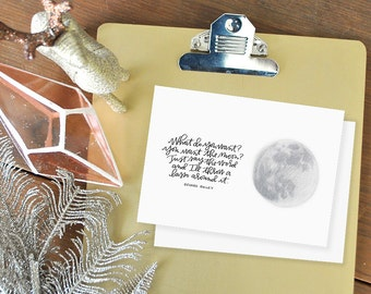 lasso the moon it's a wonderful life greeting card // holiday // classic christmas movie // george mary bailey