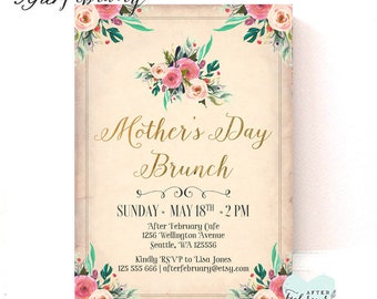 mother 39 s day invitation mother 39 s day tea party. Black Bedroom Furniture Sets. Home Design Ideas