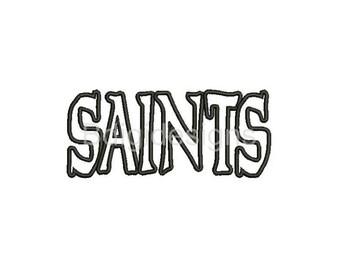 Saints Applique Embroidery Design