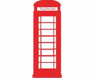 Telephone Booth Decal:  London Decals, Famous Cities, City Decals, Telephone decal, Home Wall Decor, Living Room Decals, Decals for women