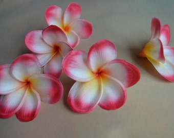 Real Touch Plumerias Artificial Silk frangipanis For Wedding Cake Toppers