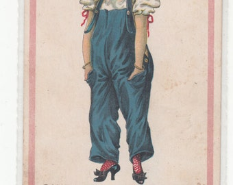 "Suffrage Suffragette ""Pantalette Suffragette In The Sweet Bye And Bye"" Antique Postcard"