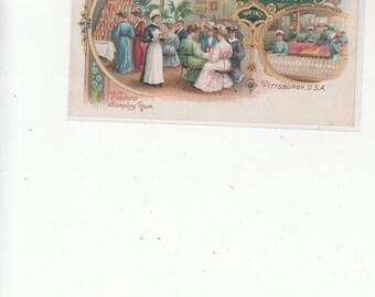 Undivided Antique Postcard HJ Heinz Company 1905 Visitor's Sampling Room Heinz 57 Varieties