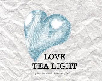 Love Tea Light Candles -  3 pack