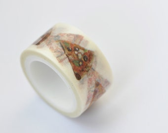 One Roll Lovely Pizza Washi Tape /Japanese Masking Tape/ Deco Tape 20mm wide x 5m long ( 0.8 inches X5.5 yards) No. 12211