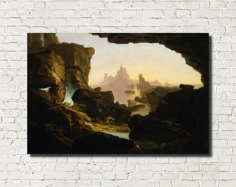 Thomas Cole, Old Masters Fine Art Print : The Subsiding of the Waters of the Deluge 1829 American Classical Art Iconic Landscape