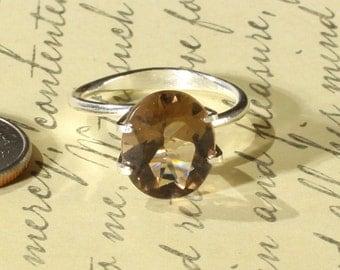 Genuine Smokey Quartz Loose Gemstone, 12x8MM or 5 Carat CTW Oval Shaped, Jewelry Making