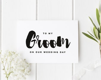 To My Groom On Our Wedding Day, Groom Wedding Day Card, Groom Wedding Card, Card For Groom Wedding Day, To My Groom On My Wedding Day