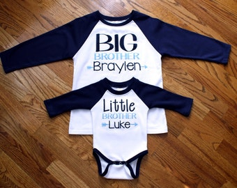 Big Brother/Little Brother Raglan Shirt~Big Brother Raglan~Little Brother Raglan Onesie