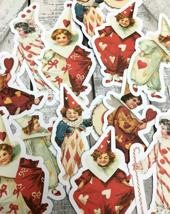 Large Valentine's Day Die Cuts,Valentines Day Die Cuts,Scrapbooking Die Cuts,Vintage Valentine's Day,Embellishments,Paper Cut Outs,Gift Tag
