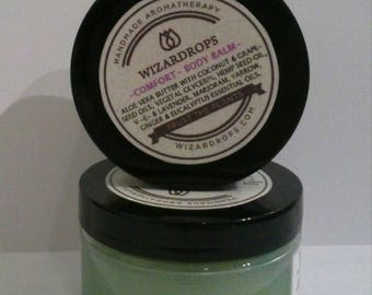 Comfort Body Balm, Organic, Handmade to help with sore muscles, contusions, stiffness and rheumatic or arthritis discomfort.