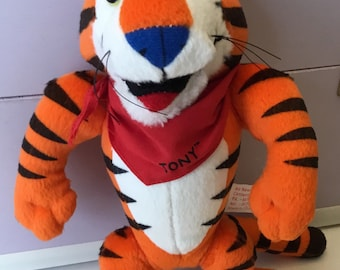 Vintage Tony The Tiger Kellogg's Frosted Flakes Breakfast Cereal Collectible Plush Toy 1997