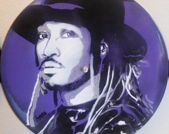 Future Spray Paint Stencil On Vinyl Record