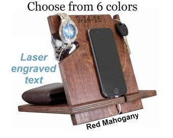 Valentines Day Mens Gift, Unique Graduation Gift For Him, Personalized Gift, Gift Ideas For Men, iPhone Holder, iPhone Dock, Phone Valet
