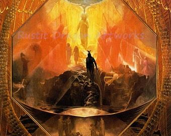 "Reginald Machell "" The Path"" 1895 Reproduction Digital Print Vintage Decor Religion Christianity Jesus Angels"