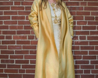 Rare Vintage 1950 gold swing coat FREE SHIPPING from RCMooreVintage beautiful condition Plus Size
