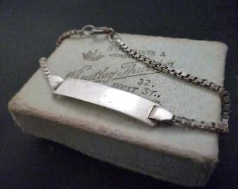 Vintage sterling silver ID Bracelet - 925 - 6 inch