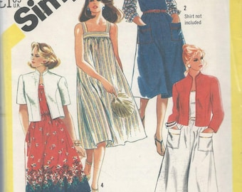 Simplicity 5514 Misses Sundress and Unlined Jacket Size 20.5-24.5