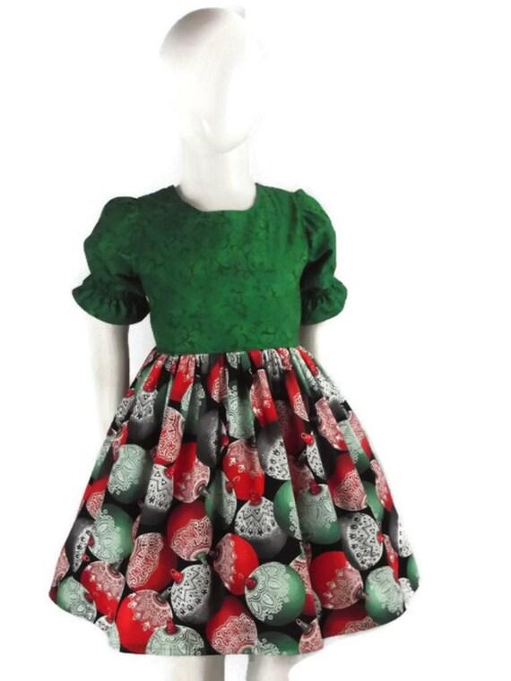 Girl Christmas Dress Toddler Holiday Dress Baby Green