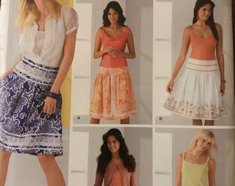 Simplicity 4266 - Misses Yoked Skirts with Pleats - Size 8 10 12 14 16
