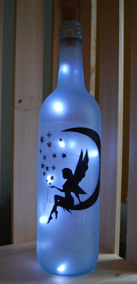 Lighted Wine Bottle Fairy
