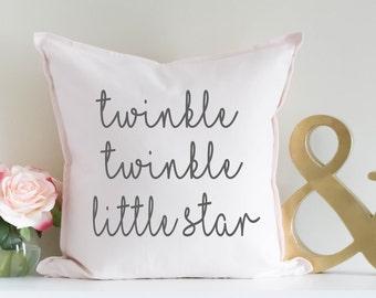 Twinkle Twinkle Little Star, Nursery Decor, Baby Girl Nursery, Baby Shower Gift, Newborn Gift, Personalized Baby Gift, Personalized Pillow