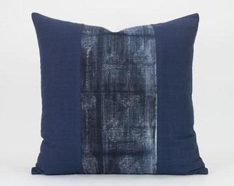 Vintage Hmong Indigo Pillow - Batik Throw Pillow Cover / Cushion Cover : 20x20 | Hmong Pillow,  Hill Tribe Pillow, Blue White, Cotton Hemp