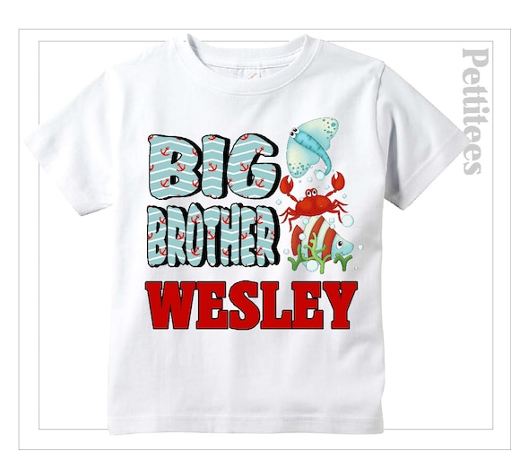 Big Brother Shirt Beach Stingray Fish Shirt Personalized
