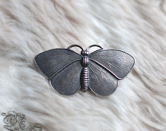 "Barrette "" Elven Moth "" - silver version - Medieval , celtic , pagan , elven , fairy , fantasy"