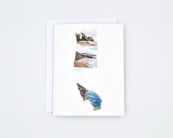 PNW Greeting Card - West Coast Best Coast - Gift for Traveler - West Coast Art - pnw gift - pacific northwest - Oregon - WA - CA Art