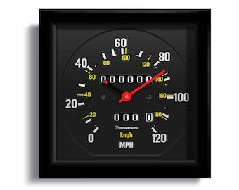 Personalized Volvo 240 Speedometer Clock